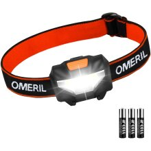 OMERIL LED with 3 Modes, IPX4 Waterproof, Super Bright 150 Lumens LED Headlight for Kids&Adults