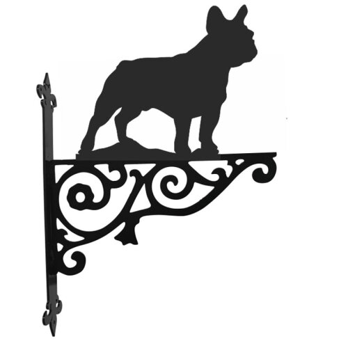 French Bulldog Ornamental Hanging Bracket