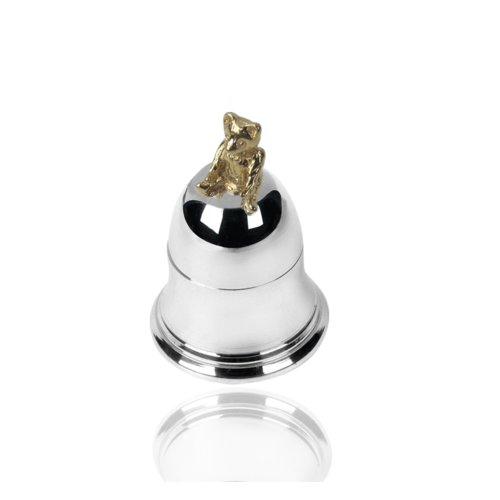 925 Sterling Silver Teddy Bear Bell Tooth Box. Christening /New Baby.