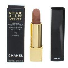Chanel Rouge Allure Velvet Pink Lipstick 71 Nuance