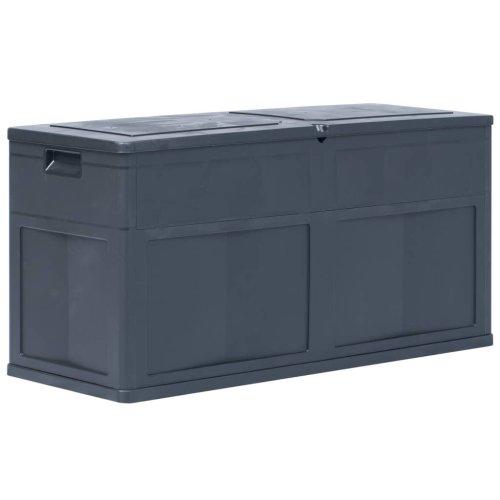 vidaXL Garden Storage Box 320L Black Outdoor Cabinet Chest Organiser Unit