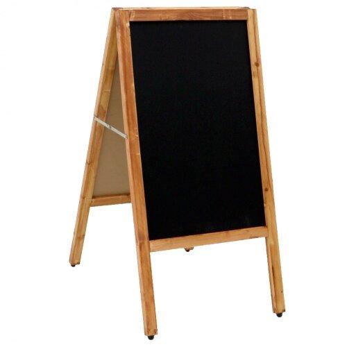 Oypla Wooden Chalkboard Blackboard Pavement Display Sign A-Board