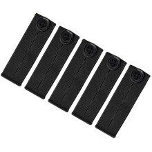5PCS Adjustable Waist Extender, Elastic Button Extender Pants Waist Extension for Trousers Jeans Pregnant Trousers