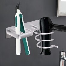 Aluminum Hair Dryer Holder Wall Hanger Rack