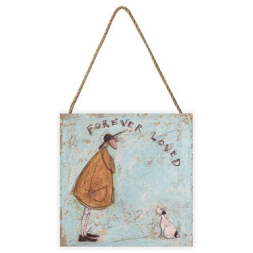 Sam Toft (Forever Loved) 20 x 20 x 3cm Wooden Wall Art