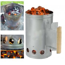 LARGE Chimney Charcoal Starter Lighting Kit Barbeque BBQ Lighter Coal Burner