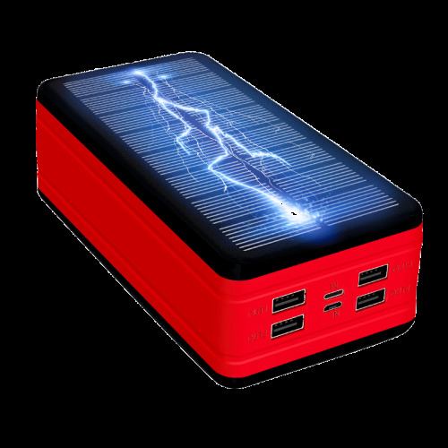 Solar Power Bank, Large Capacity Portable Charger, LED Waterproof
