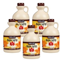 Kirkland Signature Canadian Maple Syrup - 1L - Grade A Amber PACK OF 5