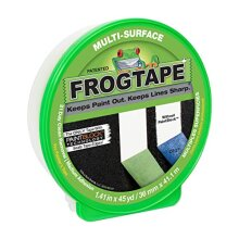 """FROGTAPE 1396747 Multi-Surface Painter's Tape with PAINTBLOCK, Medium Adhesion, 1.41"""" Wide x 45 Yards, Green"""