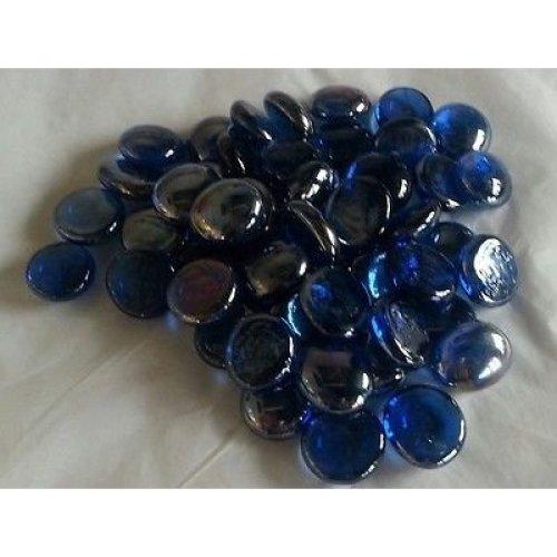 200 Glass Pebbles Nuggets Beads Stones Mosaic Cobalt Blue