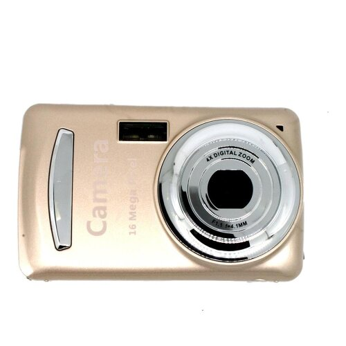 (Gold, Digital Camera) Children,s Durable Practical 16 Million-Pixel, Compact Home Digital Cameras