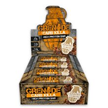 Grenade Carb Killa Caramel Chaos High Protein and Low Carb Bar, 12 x 60 g