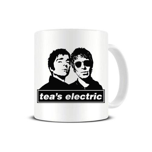 Tea's Electric - Oasis Noel Liam Gallagher Ceramic Coffee Mug - Tea Mug - Great Gift Idea