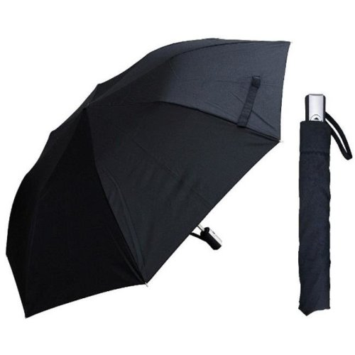 RainStoppers W046B 42 in. Auto Open Black Deluxe Umbrella, 6 Piece