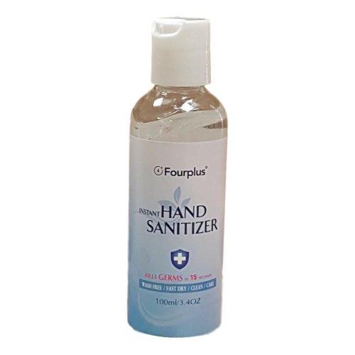 Fourplus Instant Hand Sanitiser 100ml Bottle (Pack of 5)