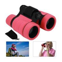 Natural Rubber pink Children Binoculars 4x Magnification samulation