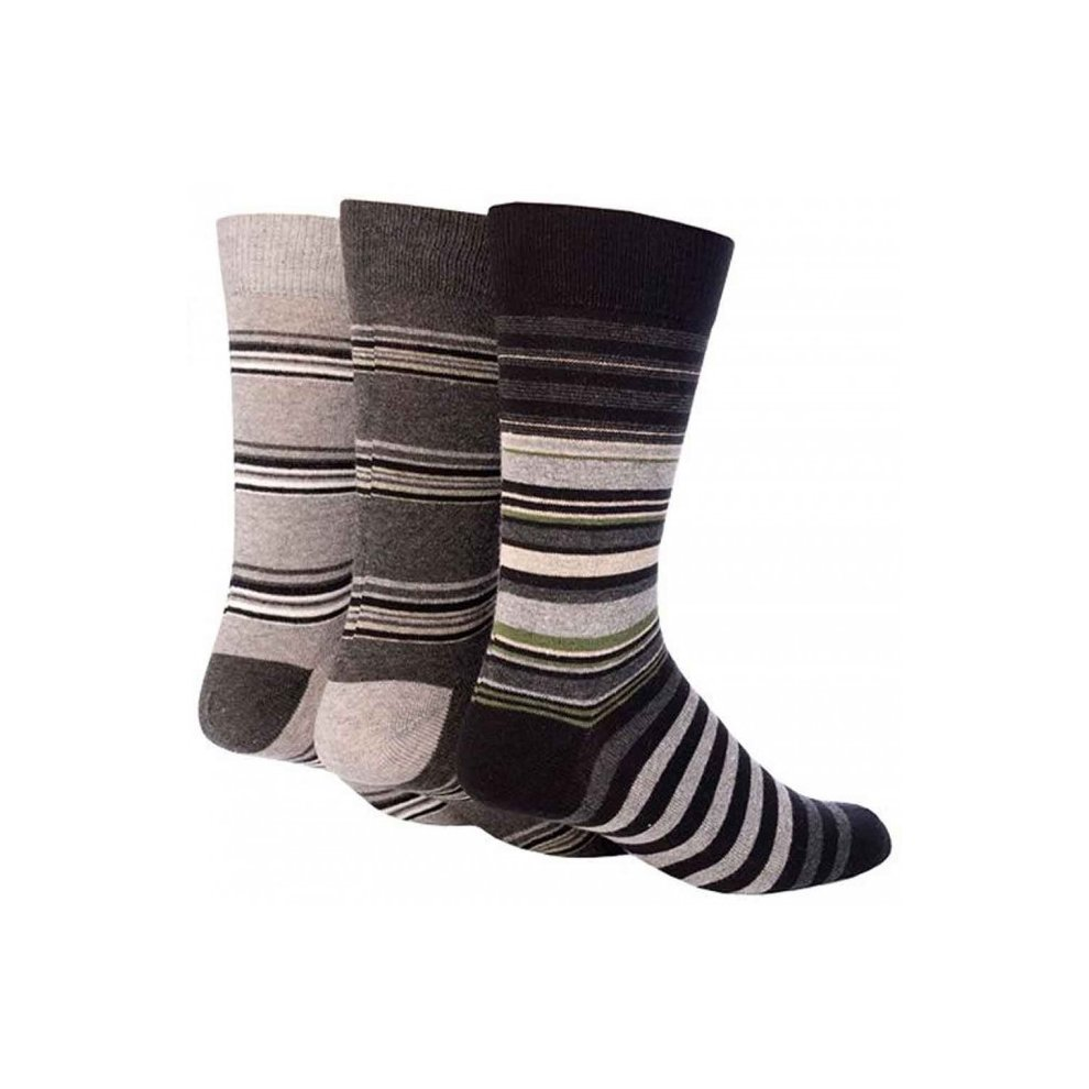 3 Pairs of Mens Giovanni Cassini Plain BLACK Cotton Socks UK Size 6-11