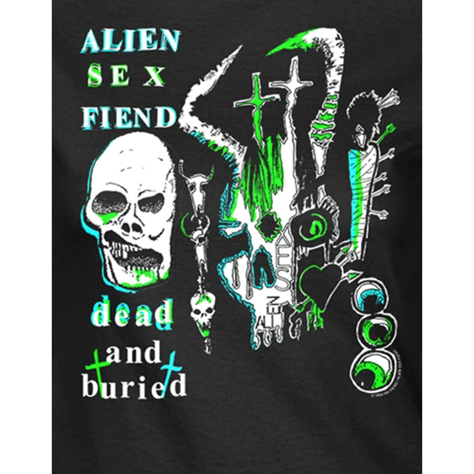 (XXL, Black) Alien Sex Fiend T Shirt Dead And Buried new