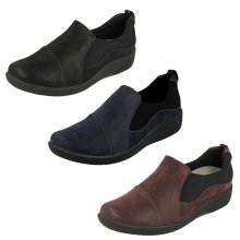 Ladies Clarks Cloud Steppers Ankle Boots Sillian Tana - E Fit