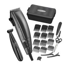 BaByliss 7447BU Precision Pro Hair Clipper Trimmer Kit For Men 15 Piece