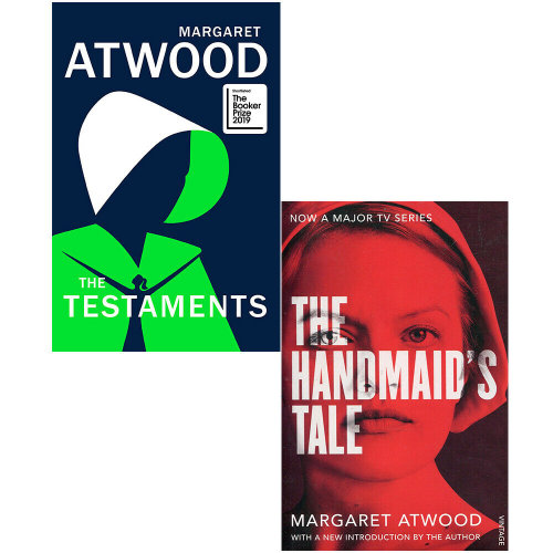 The Testaments, The Handmaid's Tale 2 Books Collection Set