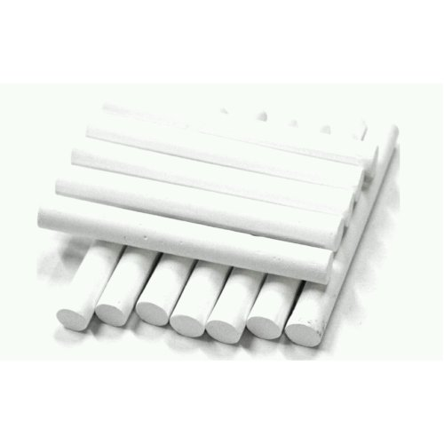 12 PCS CHALKS WHITE STICKS IDEAL FOR SCHOOL OFFICES OR HOME BLACK BOARD