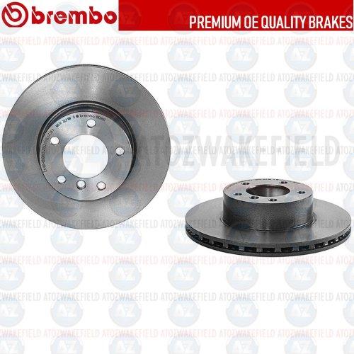 FOR BMW 3 SERIES E90 E91 E92 E93 FRONT COATED GENUINE BREMBO BRAKE DISCS 300mm