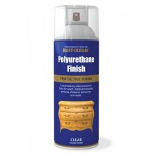 Rust-Oleum AE0140001E8 Polyurethane Protective Finish Clear Gloss Spray Paint 400ml