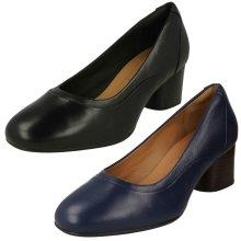 Ladies Clarks Smart Shoes Un Damson Adele - D Fit