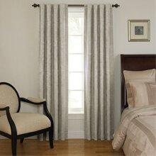 Beautyrest 11239042X095GRE Chenille 42-Inch by 95-Inch Rod Pocket Single Window Curtain Panel Grey
