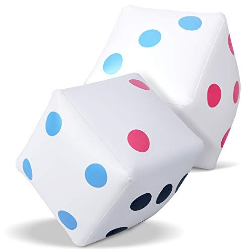 goSports giant 2 Foot Inflatable Dice for Dice games  Jumbo Size with Rapid Valve Inflation, 2 Pack