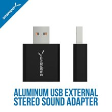 Sabrent Aluminum USB External Stereo Sound Adapter for Windows and Mac Plug and Play No Drivers Needed Black AU EMCB