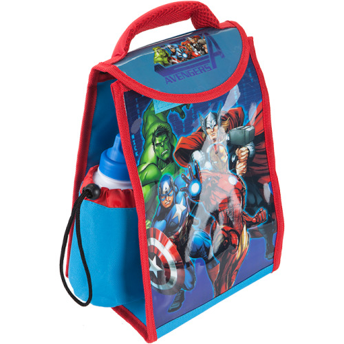 Marvel Avengers Insulated Lunch Bag with 400ml Sports Bottle