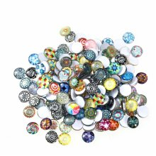 ROSENICE Mosaic Tiles 12mm Mixed Round for Crafts Glass Mosaic Supplies for Jewelry Making 200pcs