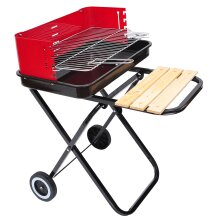 Outsunny New Foldable Barbecue Grill Cooking Charcoal Trolley with Wheels