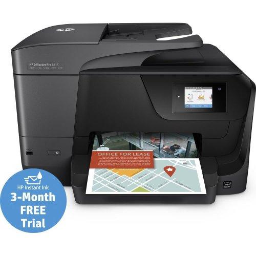 HP OfficeJet Pro 8715 All-in-One Wireless Inkjet Printer with Fax, Black