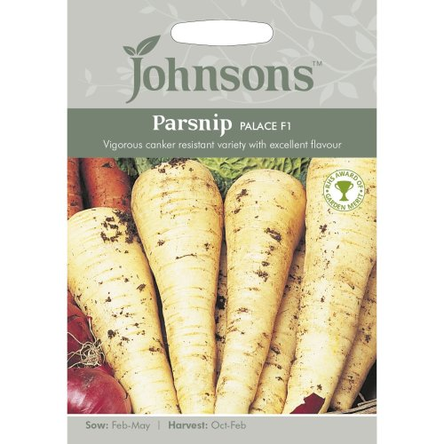 Johnsons Seeds - Pictorial Pack - Vegetable - Parsnip Palace F1 - 200 Seeds
