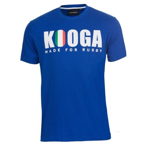 Kooga Unisex's Italy International Rugby Logo T-Shirt-Blue, Small