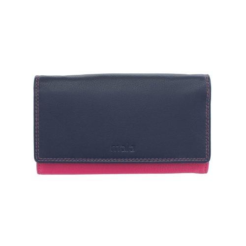 Mala Grafton Collection Leather Purse RFID 3458_78R Navy