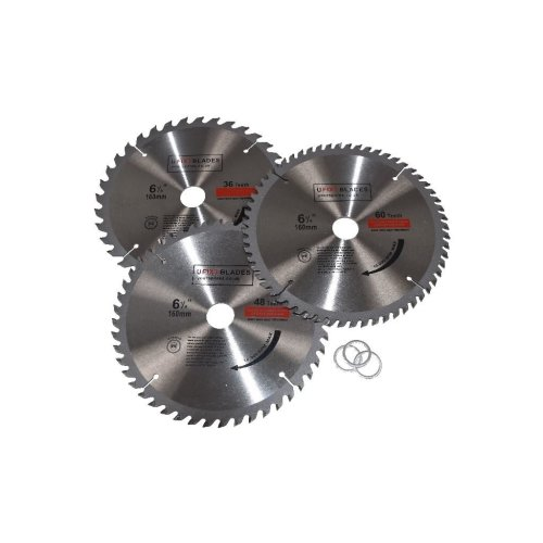 Circular Saw Blades 160mm x 20mm TCT  36 48 60 Tooth Triple Pack Fits Bosch