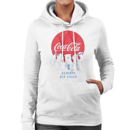 Coca Cola Always Ice Cold Polar Bears Women's Hooded Sweatshirt