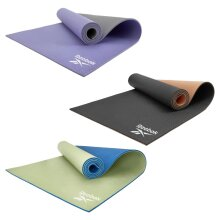 Reebok Double Sided 6mm Yoga Mat Exercise Gym Fitness Workout