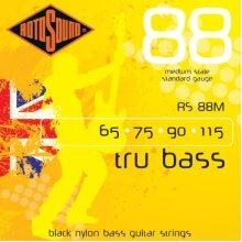 Rotosound Black Nylon Standard Gauge Flatwound Medium Scale (65 75 90 115)
