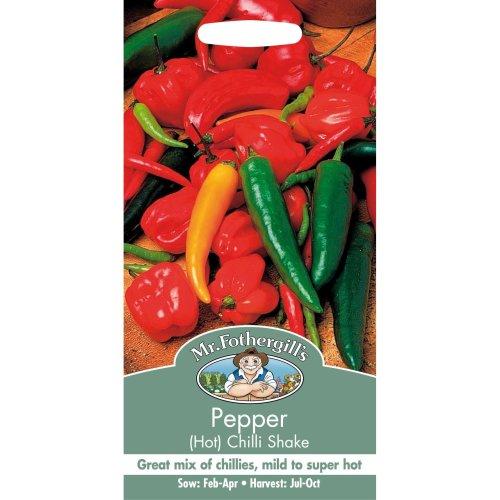 Mr Fothergills - Pictorial Packet - Vegetable - Pepper Hot Chilli Shake - 30 Seeds