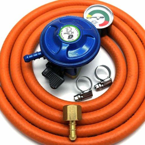 IGT 37mbar PROPANE GAS REGULATOR REPLACEMENT HOSE KIT FOR UK OUTBACK MODELS