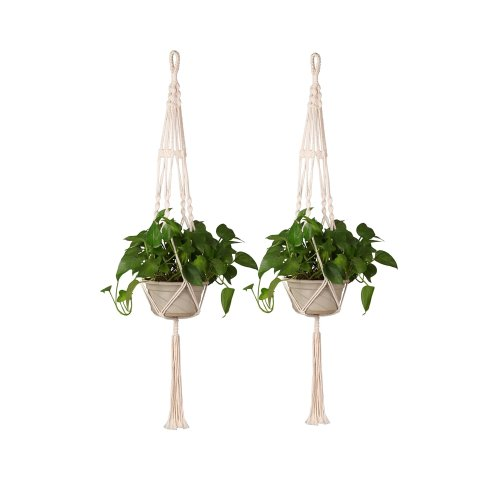 Plant Pot Hanger Macrame Jute For Indoor Outdoor Ceiling Holder Hanging Baskets