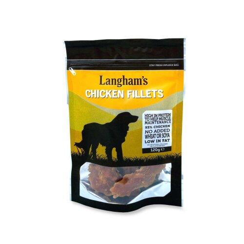 Langham's Chicken Fillet Dog Treats High in Protein 120g
