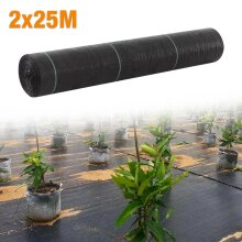 Garden Landscape Weed Control Fabric Ground Cover Membrane 2mx25m