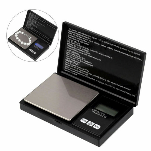 0.1G-500G DIGITAL POCKET WEIGHING MINI SCALES GOLD WEIGHT JEWELLERY