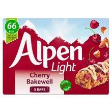 Alpen Light Cherry Bakewell 95g, Pack of 5, 25 Bars In Total